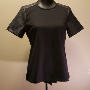 J.Crew black top with Sparkle detail Sleeves/neck